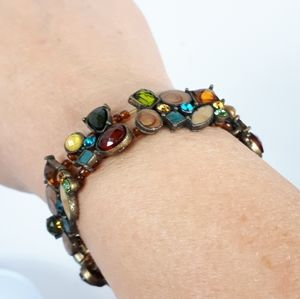 Gemstone Bracelet Fall Colors
